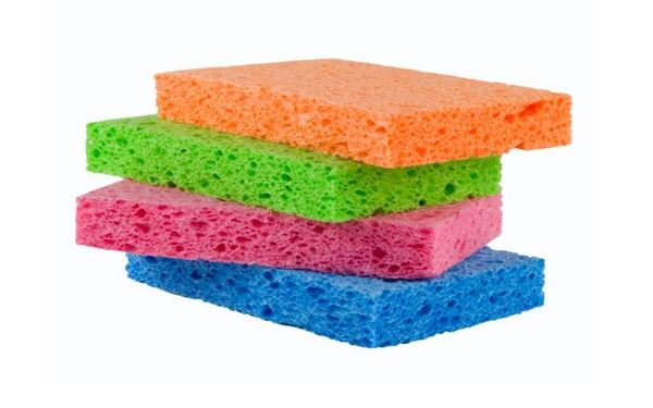 Colorful stack of sponges