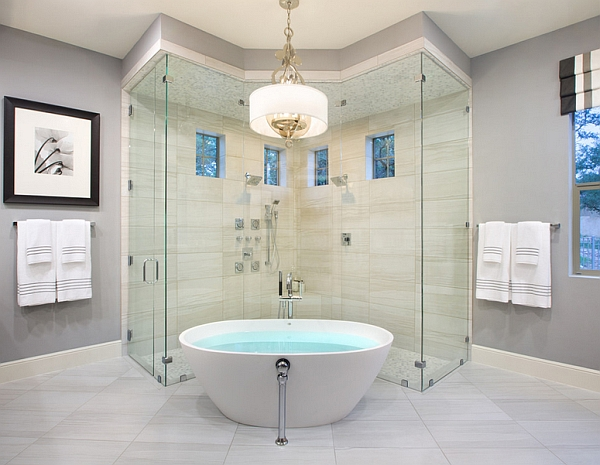 Combine the tub with a smart shower area