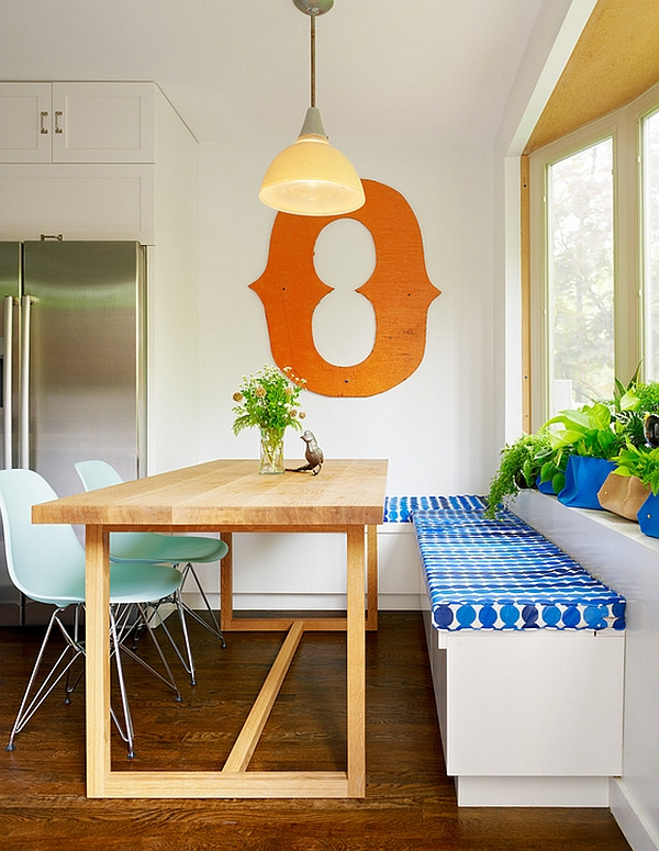 small modern dining room ideas. View in gallery Combine the corner bench with a couple of Eames Molded  Plastic Chairs Small Dining Rooms That Save Up On Space