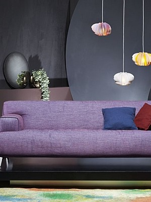 Comfy Oscar Sofa in plush purple