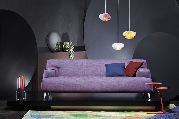 Comfy Oscar Sofa in plush purple Luxurious And Trendy Sofas With Irresistible Contemporary Flair!