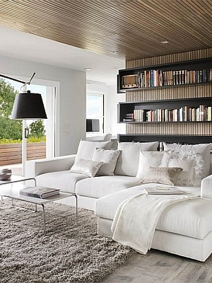 Contemporary Barcelona Apartment designed for Booklovers