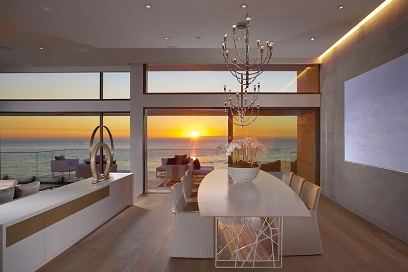 Contemporary California home with view of the Pacific
