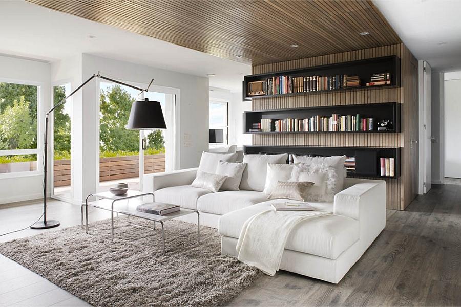 Contemporary Living Room designed for a Book Lover
