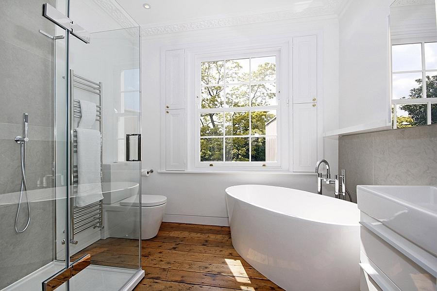 Modern extension to a victorian house in london comes with for Bathroom ideas london