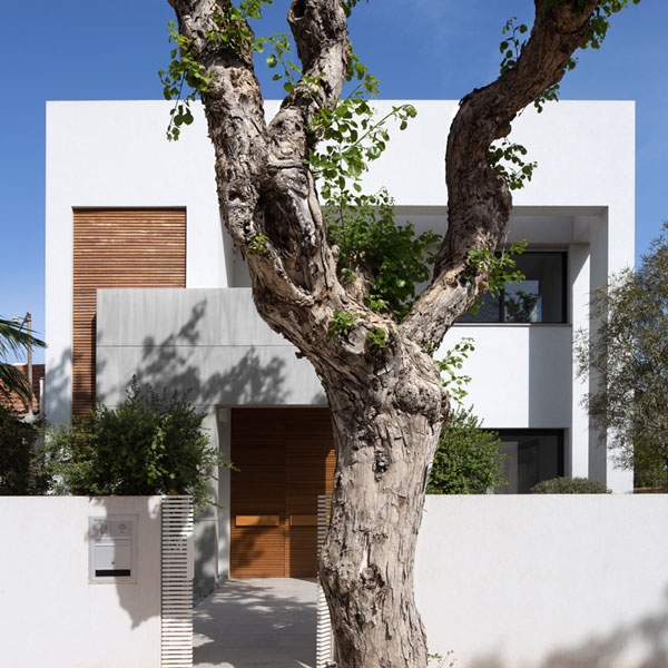 Contemporary facade of modern Israeli home