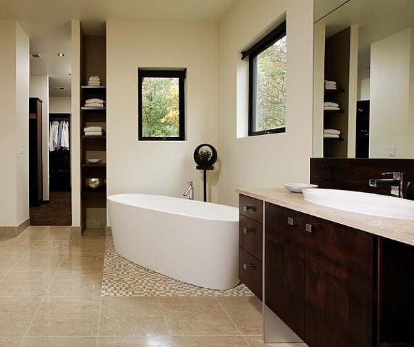 Hot bathroom trends freestanding bathtubs bring home the spa retreat Bathroom design ideas with freestanding tub