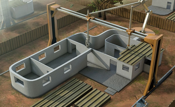 Contour Crafting with the 3D Printer machine Revolutionary 3D Printer Promises To Build An Entire House In A Day!
