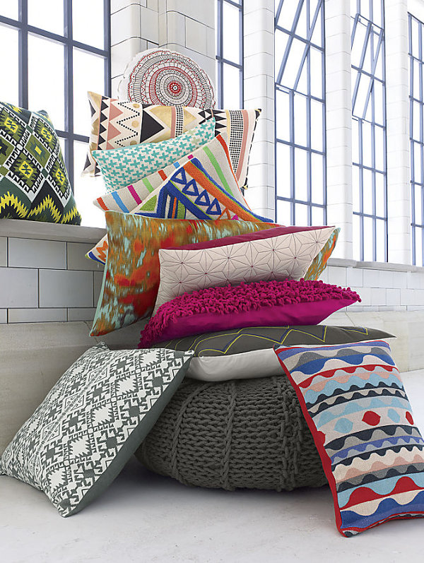 Cozy pillows from CB2