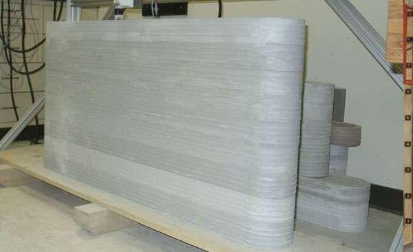 Creating large concrete blocks using 3D printer