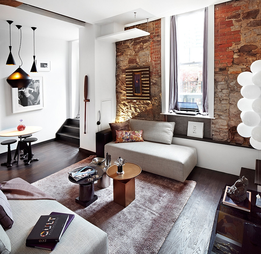 Eclectic loft in toronto blends contemporary luxury with - Idees decoration interieur appartement ...