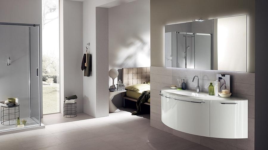 Exquisite modern bathroom brings home sophisticated minimalism for Foto bagni minimal