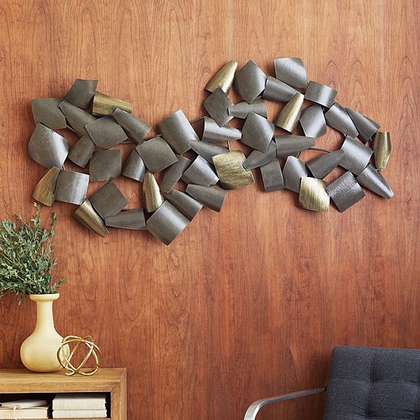 Wall decor ideas for a cool dining room for Dining room metal wall art