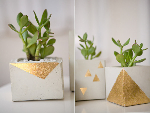 DIY cement pots