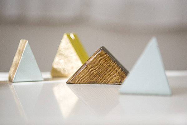 DIY geometric photo holders