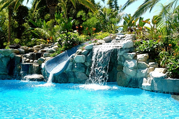 Pools luxury pools garden pools custom pools luxury backyards - Breathtaking Pool Waterfall Design Ideas