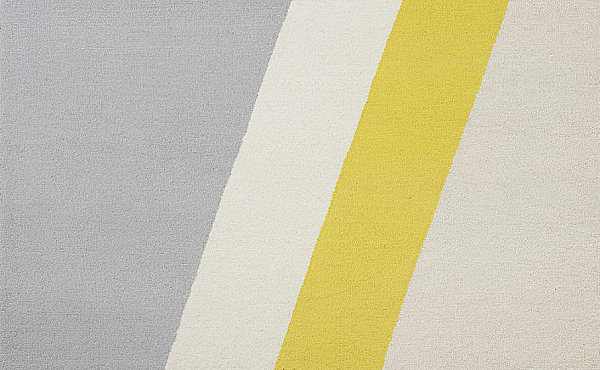 Diagonal pattern rug