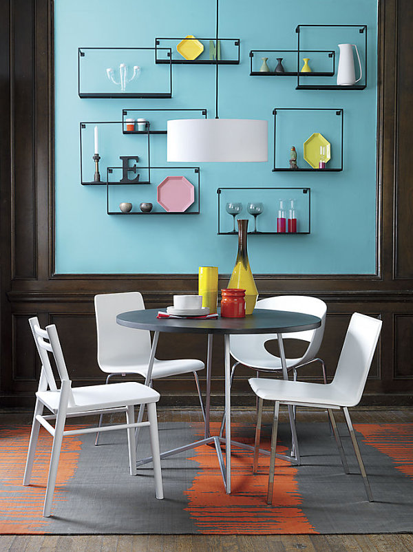 Lovely View In Gallery Dining Room Wall Of Shelves
