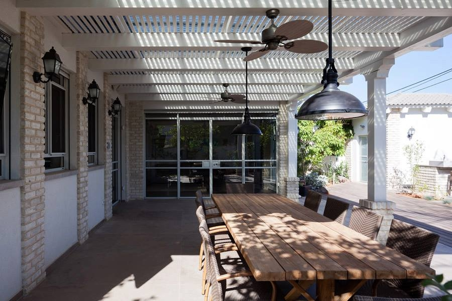 Dining space in the patio along with barbeque nook