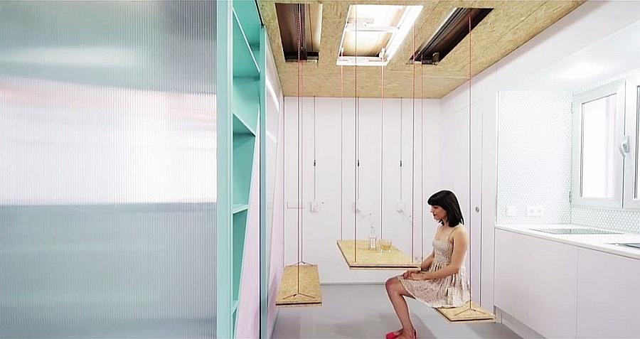 Dining table idea for tiny apartments