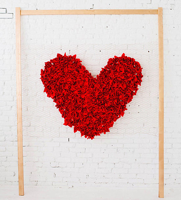 Easy heart backdrop