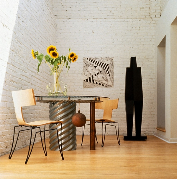 Eclectic and compact dining room