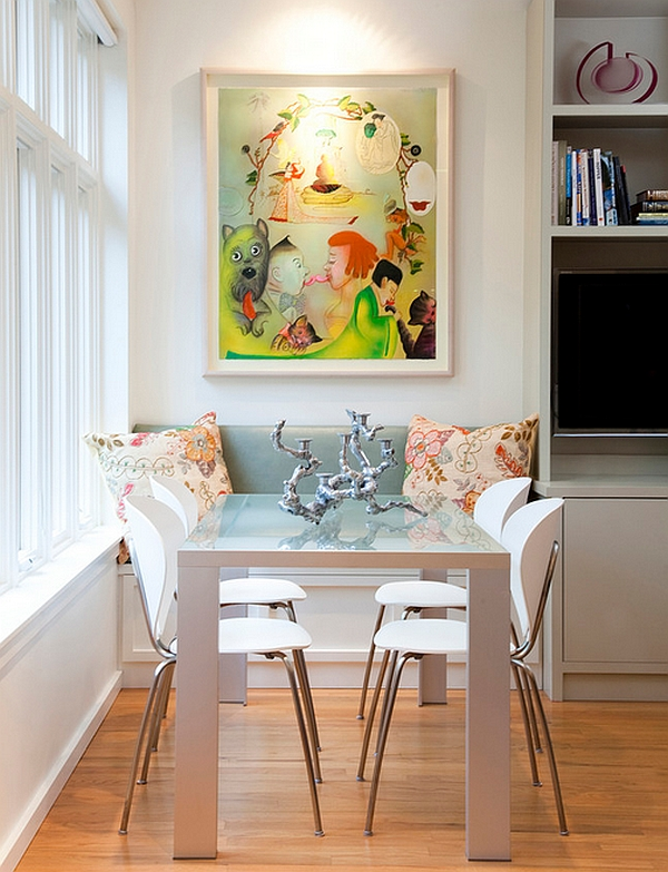 View In Gallery Eclectic Dining Room With A Window Seat