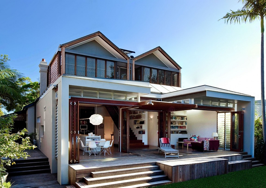 Stylish sydney house gets a sustainable and energy for House extension interior designs