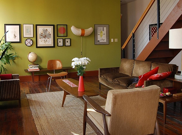 60s home decor. View in gallery Elegant design with smart pops of color Retro Living Room Ideas And Decor Inspirations For The Modern Home