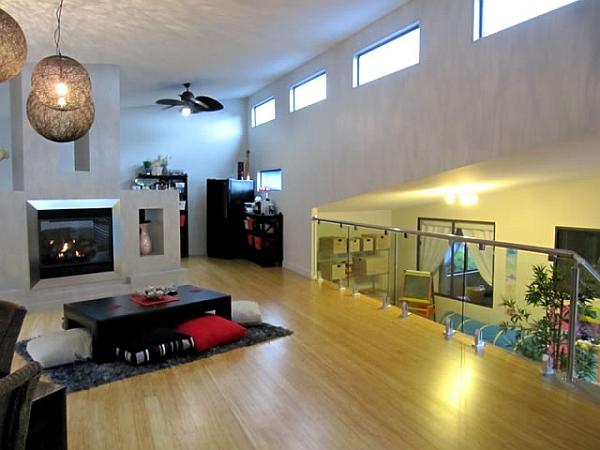 Elegant open floor living plan