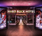 Entrance to the Hard Rock hotel in Palm Springs
