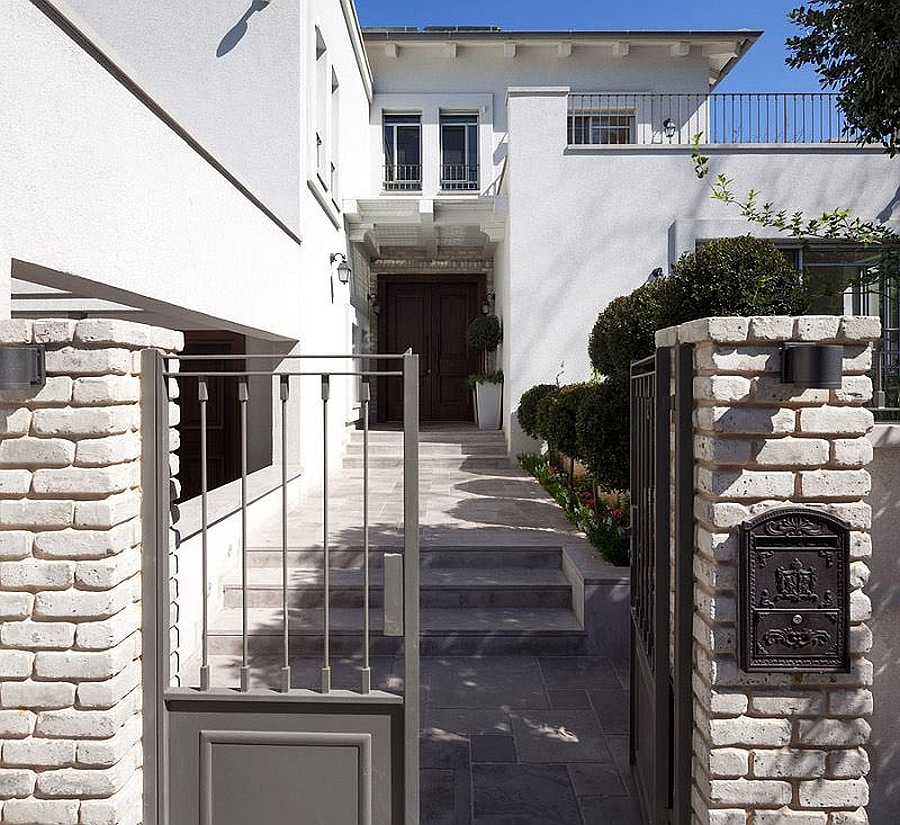 Entrance to the stylish villa in Israel