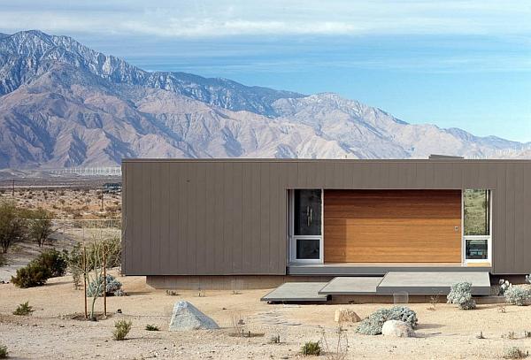 Exterior steel cladding of the desert house