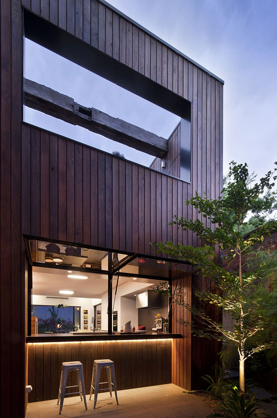 Exteriors clad in wood