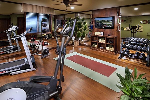 Fabulous dedicated home gym idea