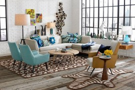 Fabulous living room with a cool collection of vases