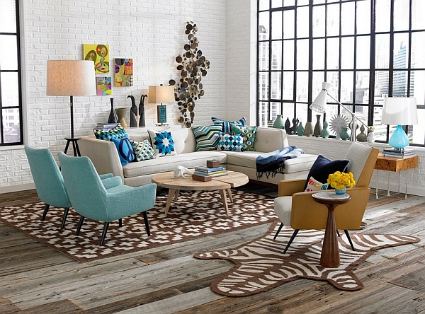 Retro living room ideas and decor inspirations for the modern home - Deco de table annee 70 ...