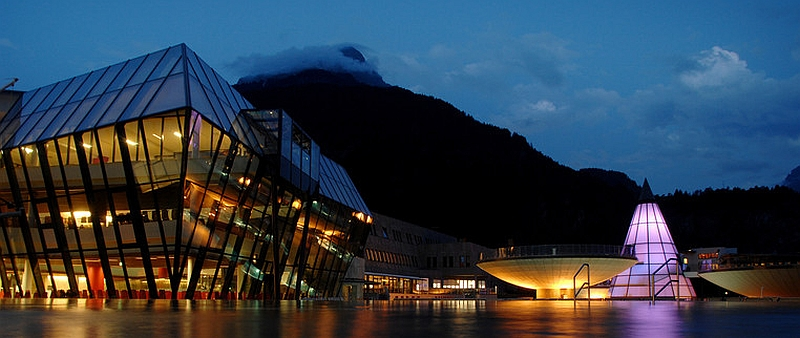Fabulous resort at night time
