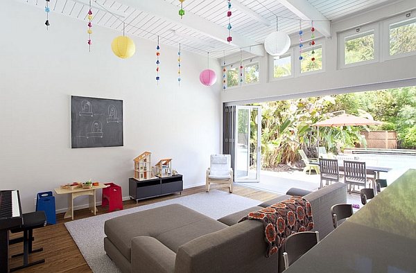 Family room serves both kids and adults