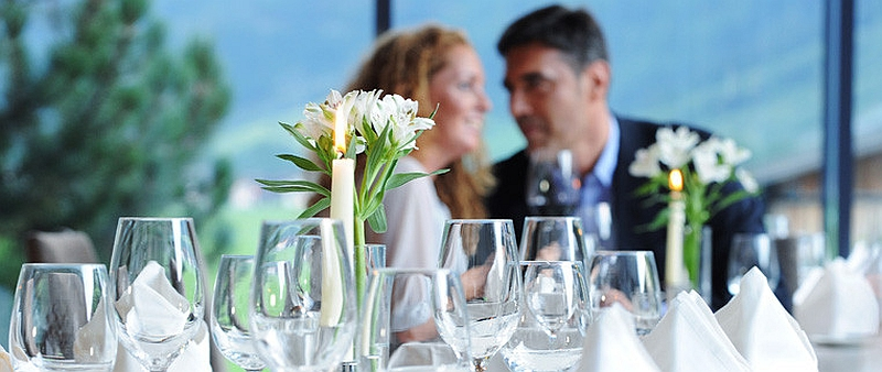 Fine dining at the Aqua Dome