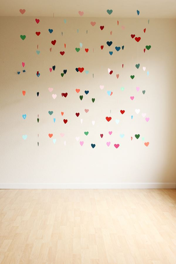 Floating heart decoration idea