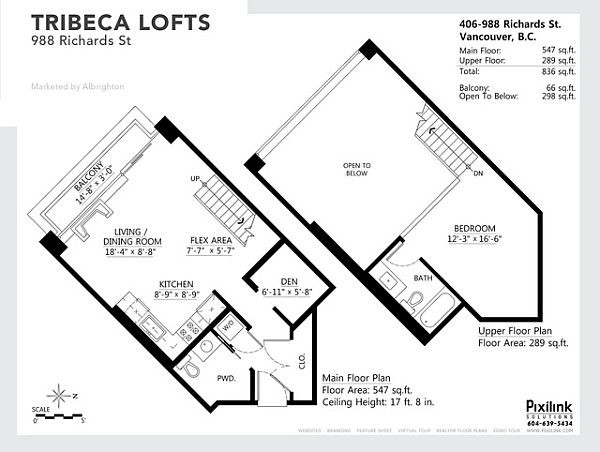 Floor plan for industrial tribeca loft
