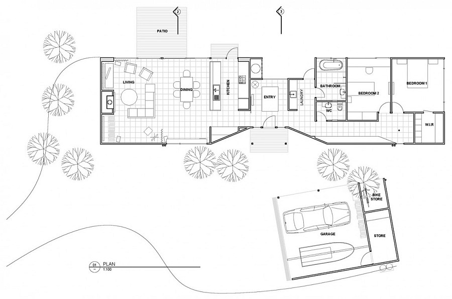 Floor plan of the enrgy-efficinet home