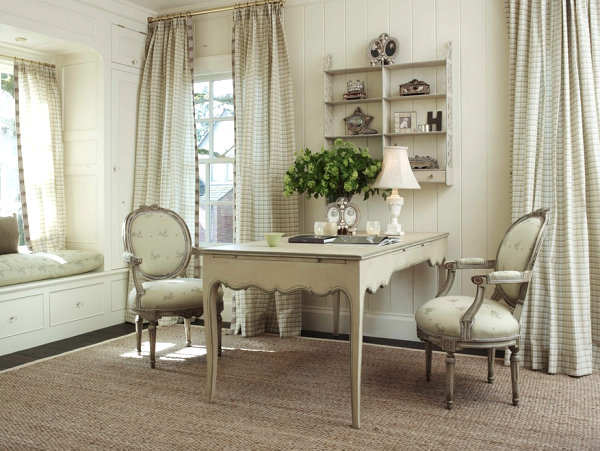 Delightful View In Gallery French Country Seating Area