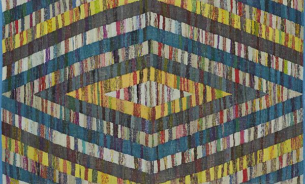 Geometric diamond rug