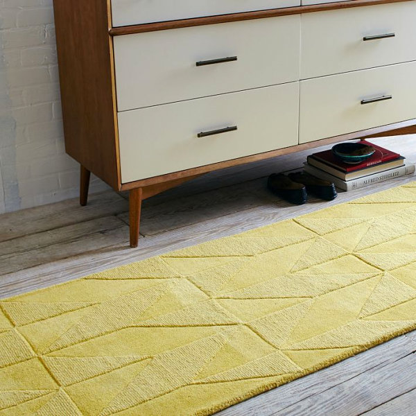 Geometric wool runner