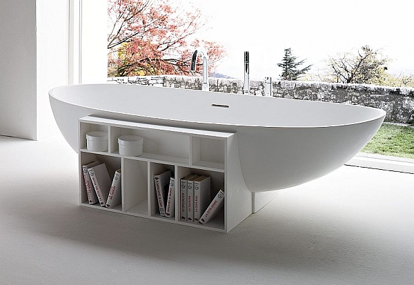 Hot bathroom trends freestanding bathtubs bring home the for Stand alone bathtubs modern