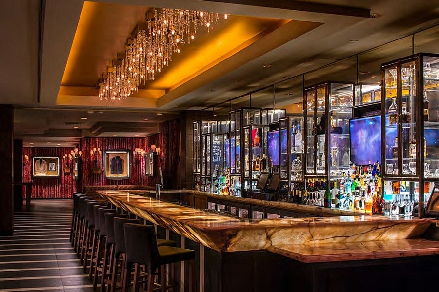 Glamorous bar design that complements the hotel