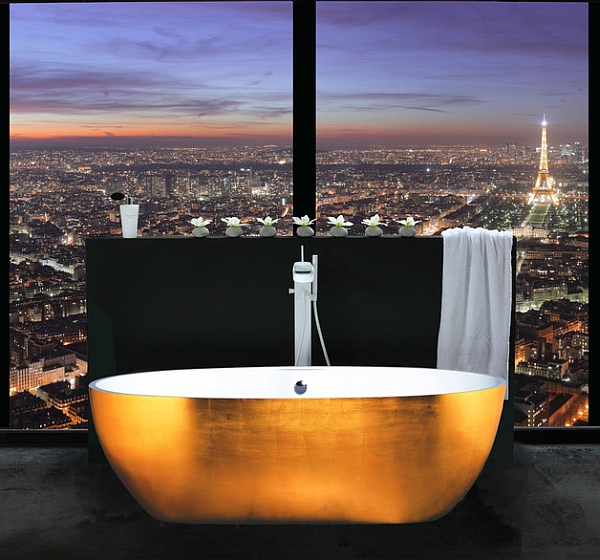 Permalink to Freestanding Bathtub Faucet Gold