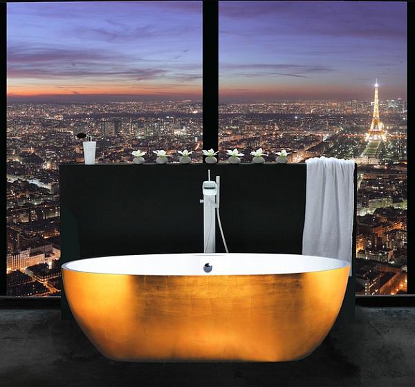 Freestanding Bathtub Faucet Gold